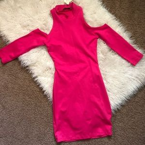 New Arden B Fuchsia mock neck dress